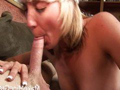 Hot Blonde Amy Ride A Big Cock And Got A Crea