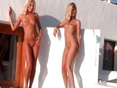 Sexy blonde babes get horny showing off