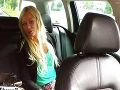 Blonde girl sucks and fucked the driver