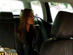 Czech girl gets fucked inside a taxi