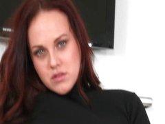 Hot brunette milf gets horny showing off
