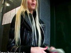Eurobabe Katka pussy pounded for money