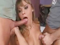 Russian Teen Hastya gets a Double Penetration