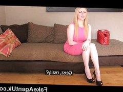 FakeAgentUk - Blonde Scottish babe big boobs