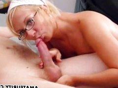 Amateur girlfriend sucks and fucks with cum
