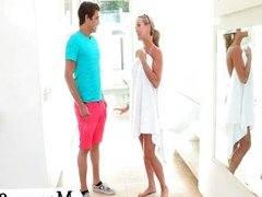 Teen uses her MILF stepmom to seduce boy