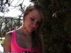 Hot Czech girl Angelica fucked in public