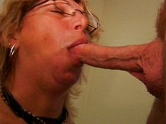 Cocksucking horny mature lady