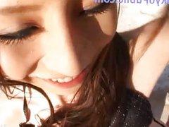 Cute Japan Girl Outdoors - TokyoPublic