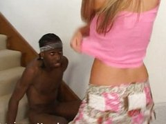 Black thug takes care of a blonde milf