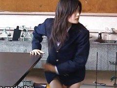 Amazing Asian schoolgirl shows off her