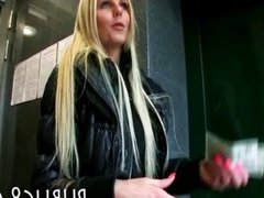 Eurobabe banged and jizzed on for money