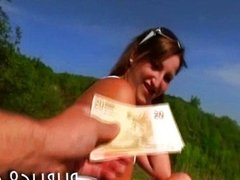 Czech girl Tereza sex in public for cash