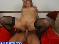 Hot blonde Harmony drilled in her ass