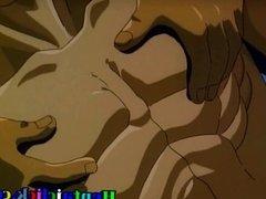 Hentai gay gangbanged by two guys