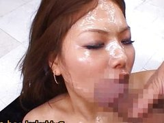 Aya Matsuki hot Asian doll enjoys cum
