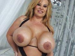 Nice MILF with huge tits