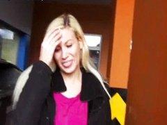 Hot amateur blondie Eurobabe Yenna cum swallo
