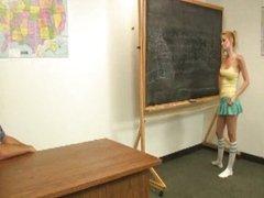 Student Jacks Off Her Teacher