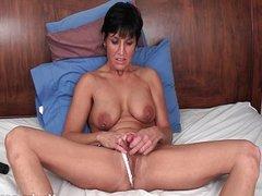 Tickling her piercid clitoris