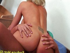 Brooke Haven fucked hard and gets a donut