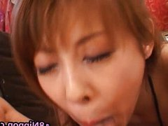 Cute Teen Asian Babe Sucking and gets