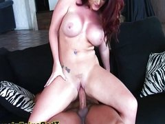 Sophie Dee fucked on her tits