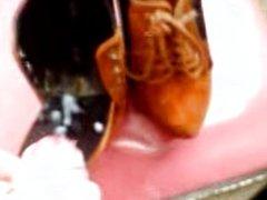 cumming in boss's girlfriends sisters heels