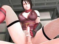 Hot animated whore masturbating
