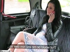 Naughty amateur sucks off a taxi driver