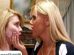 Big tits MILF Karen Fisher and teen blonde Mo