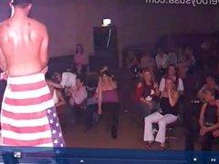 British slags enjoying themselves w/ stripper