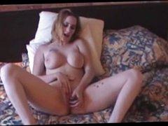 Busty Blonde Playing With A Dildo