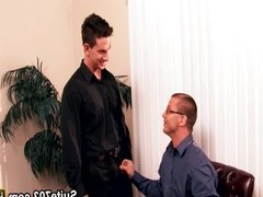 Sexy gays Brenn and Luke have sex in office