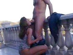 xxx Sex uz balkona
