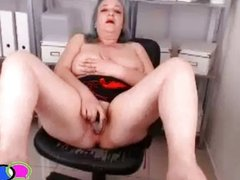 Grandma Squirts on Office Webcam
