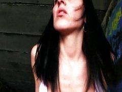 Sexy European babe Aneta gets fucked under th