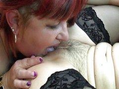 Horny redhead older lady loves licking