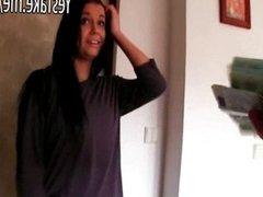 Adorable amateur teen flashing and gets bange