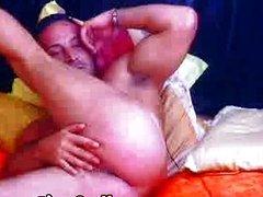 Muscular gay wanking