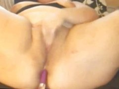 Horny Fat Girl Dildoing Her Ass on Webcam