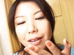 Hot Japanese slut sucks cock