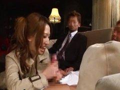 Ai Sayama Asian model blowing