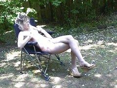 Hot blonde in sexual wonderland