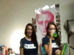Amateur college teens dorm room orgy party
