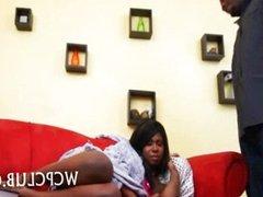 Ebony girl fucks her BF