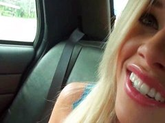 Daring Amateur Couple Gets Naughty In A Cab