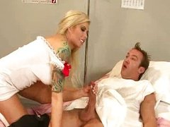 Bigtitted nurse gets drilled
