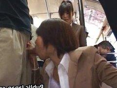 Asian babe has public sex