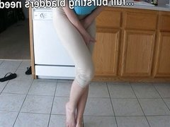 Female desperation & real pants panty wetting